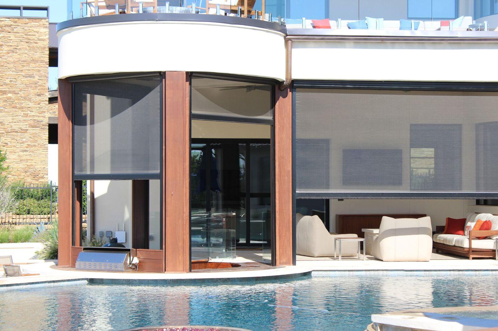 100% authentic 4c6b9 b5624 Exterior Retractable Solar Screens Dallas | Outside Solar ...
