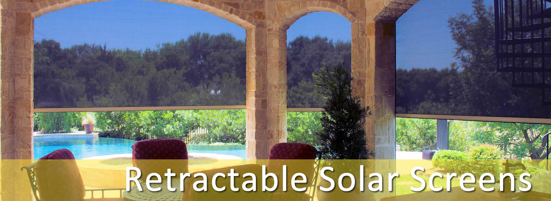 Retractable Solar Screens